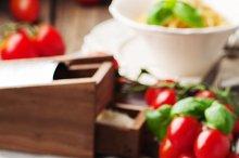 Traditional sicilian red pesto
