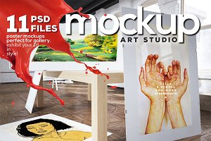 Art Studio-Poster Mock-up vol.8