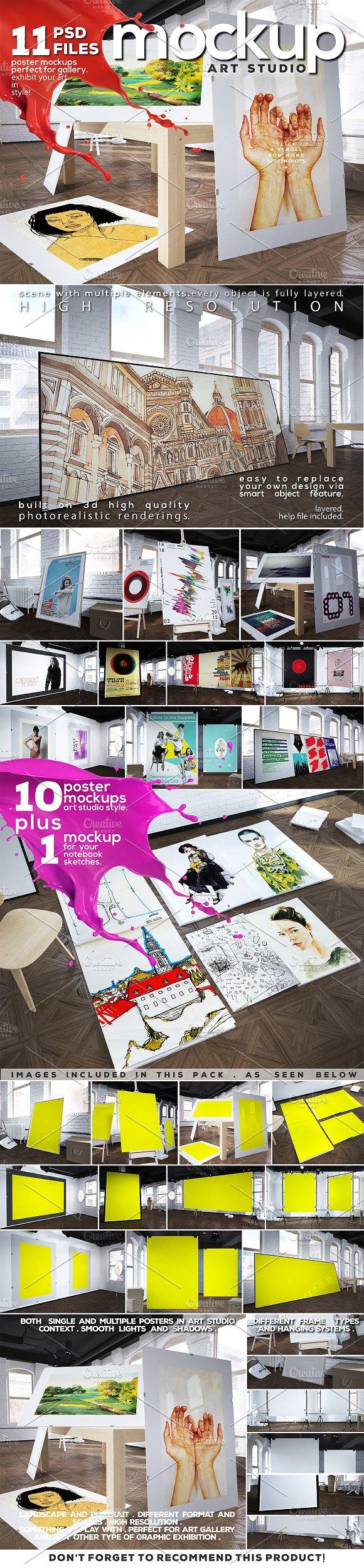 Download Art Studio-Poster Mock-up vol.8