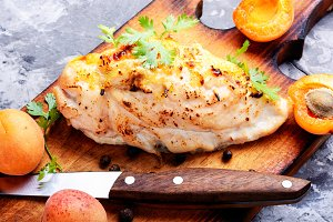 Chicken breasts  with apricot