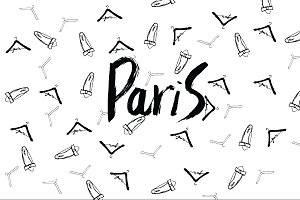 Paris sketch clothes hanger