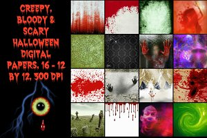 Halloween Creepy Digital Papers
