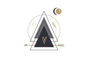Vector scandinavian geometric art