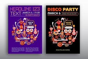 Nightclub Disco Party vector poster