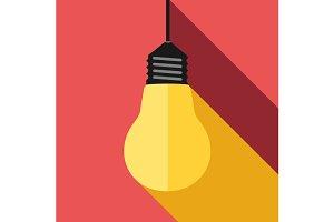 Lightbulb, light and shadow