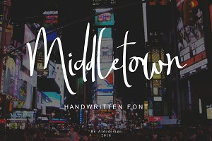 Middletown - Two Signature Fonts