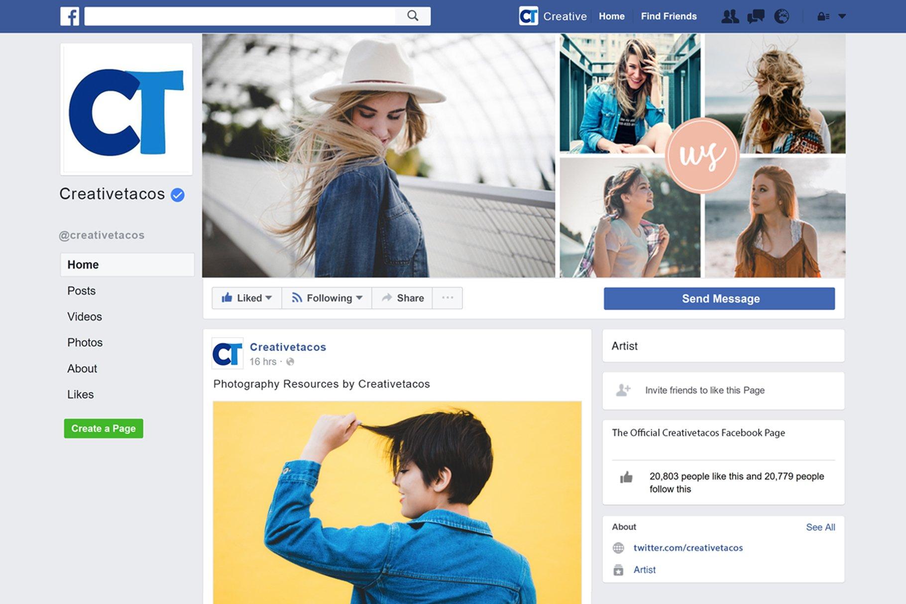 Facebook Cover Template Set 12 Social Media Templates Creative