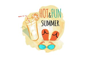 Hot and Fun Summer Background