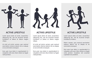 Set of Active Lifestyle Cards