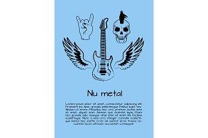 Nu Metal Music Poster Vector