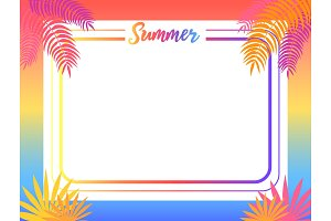 Summer Poster Place for Text Vector
