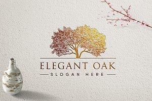 Elegant Oak Logo Template