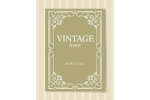 Vintage Frame Retro Style Decorative