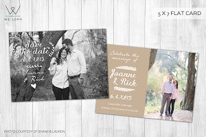 Save the date romantic card template