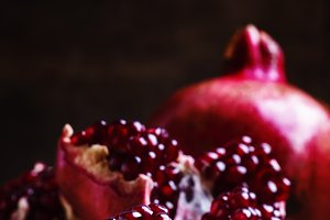 Fresh azerbaijan pomegranate, still