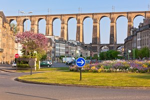 Stone Bridge in Morlaix Town, Britta
