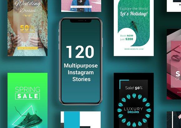 120 Instagram Stories Mega Bundle