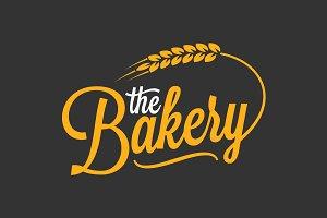 Bakery vintage lettering logo