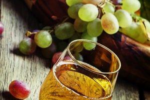Light grape juice, still life in rus