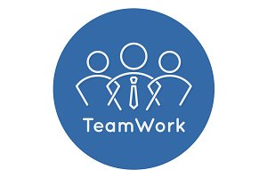 Teamwork business concept icon