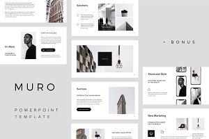 MURO - Powerpoint Template + Bonus