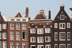 Medieval houses in Amsterdam
