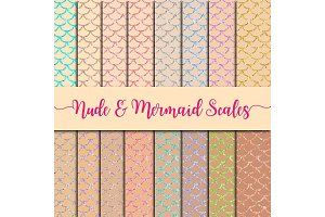 Nude backgrounds & Mermaid Scales