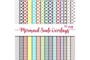 Mermiad Scales Overlay Clipart