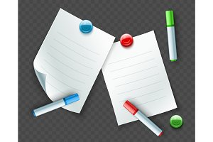 Paper sheets for notes and messages