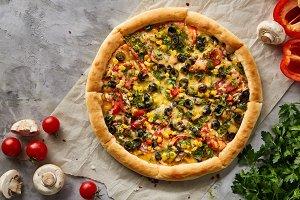 Tasty Italian pizza and its