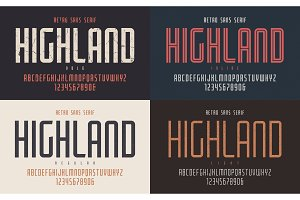 Highland vector condensed bold