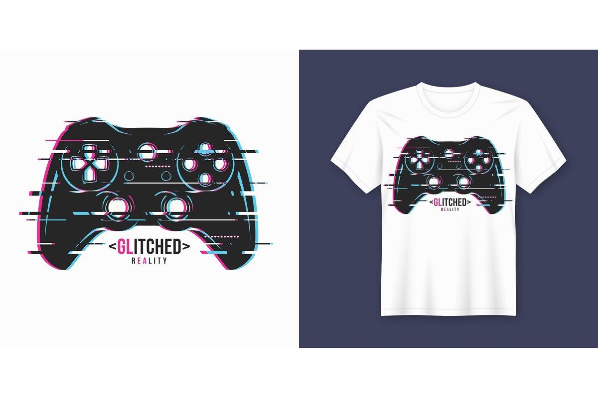 a99b6ffbd Glitched reality. T-shirt design. ~ Illustrations ~ Creative Market
