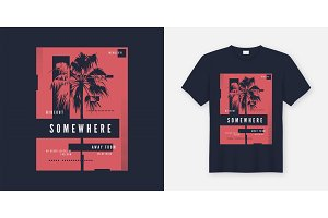 Somewhere t-shirt and apparel trendy