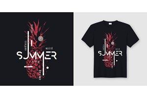 Endless summer t-shirt design