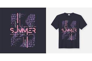 Crazy summer t-shirt and apparel