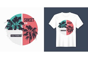 Sunset Blvd California t-shirt and
