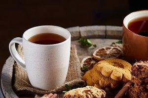 Traditional Christmas tea concept