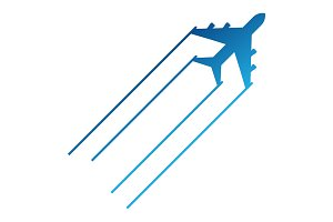 blue aircraft icon