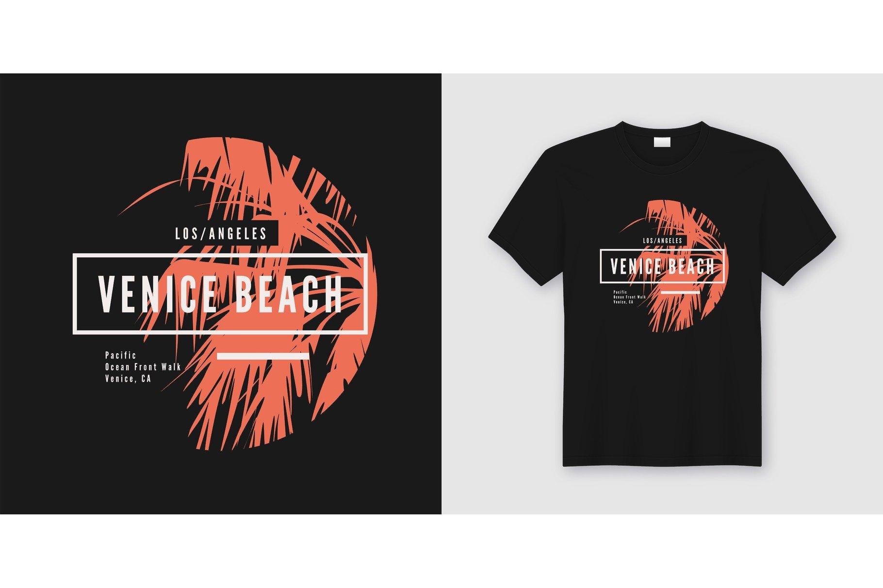 Venice Beach T Shirt Design Illustrations Creative Market