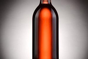 Blush Wine Bottle Backlit