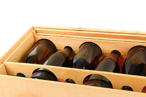 Case of Chardonnay Wine Bottles