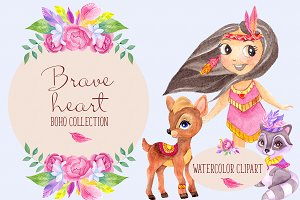 Brave heart. Boho collection.