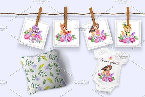 Brave heart. Boho collection. in Illustrations - product preview 6