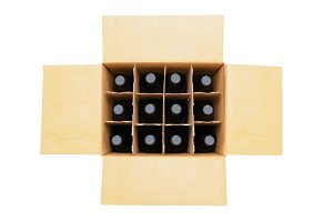Case of Wine Bottles
