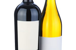 Wine Bottles with Blank Labels
