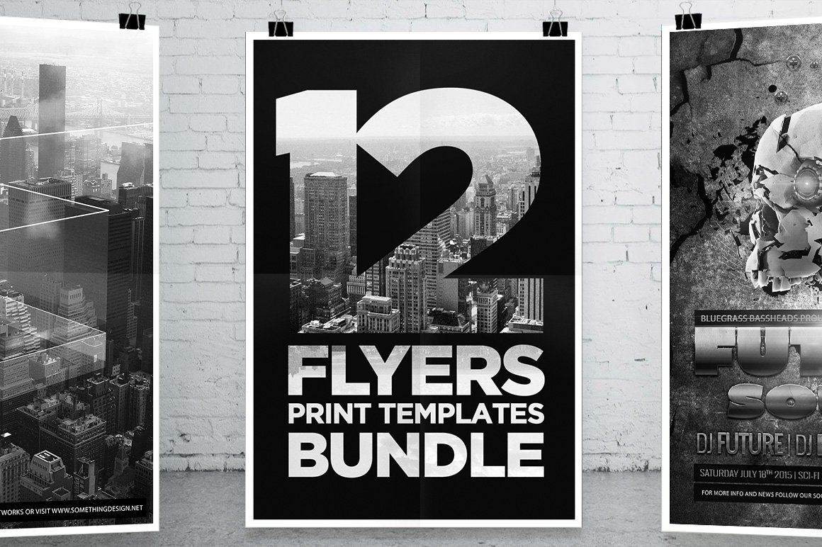 8195 template - 12 Party Flyers Bundle