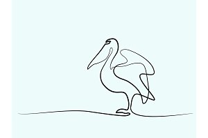 Pelican minimalist symbol