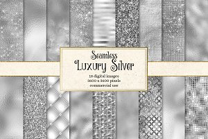 Luxury Silver Textures Digital Paper