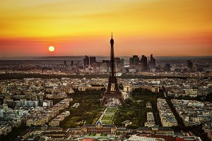 Paris at sunset