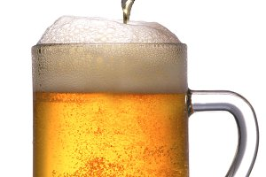 Mug of Beer with Pour